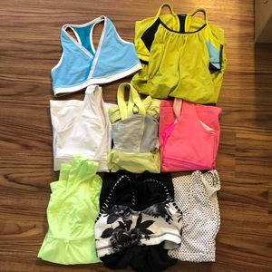 lululemon athletica Tops - Lululemon Bundle Tops and Bras Size 2-6
